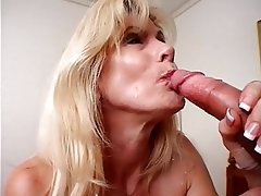 Blowjob, Facial, Mature, Blonde, Pantyhose