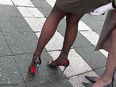 Lesbian, Mature, Pantyhose, Stockings