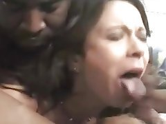 Creampie, Double Penetration, Gangbang, Interracial