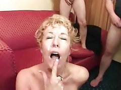 Blonde, Bukkake, Facial, Group Sex