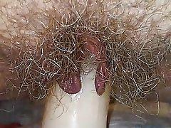 Dildo, Hairy, Masturbation, MILF