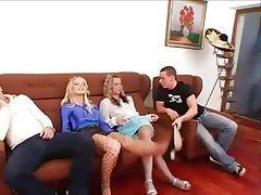 Blonde, Group Sex, Hardcore, Lingerie