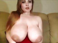 Big Boobs, Dildo, Saggy Tits, Webcam