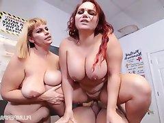 BBW, Big Boobs, Group Sex, Student