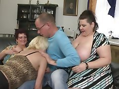 Mature, Group Sex, MILF, Old and Young