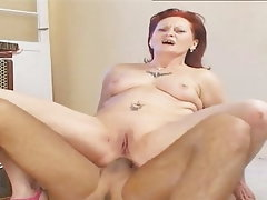 Anal, Mature, Redhead, Old and Young, Granny