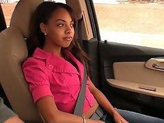 Babe, Black, Brunette, Car