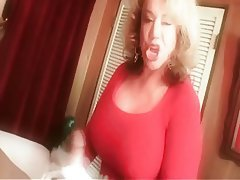 Big Boobs, Blonde, Granny, Handjob, Old and Young