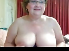 Big Boobs, Granny, Masturbation, Webcam