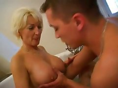 Blonde, Blowjob, Cumshot, Mature, Old and Young