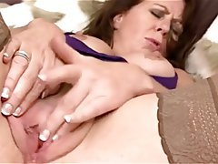 Lingerie, Masturbation, Mature, Pantyhose, Stockings