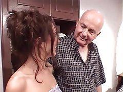 Blowjob, Facial, Brunette, Group Sex, Mature