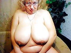 BBW, Big Boobs, Granny, Mature, Webcam